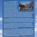 Newhaven Solar Flyer Back